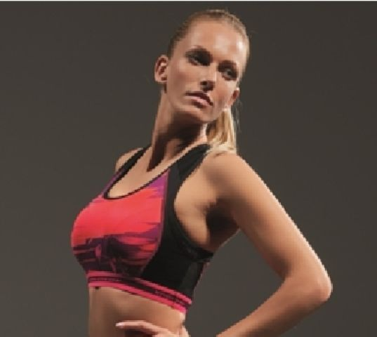 "Krissline Sports - ""Power of Pink"" Spacer bra"