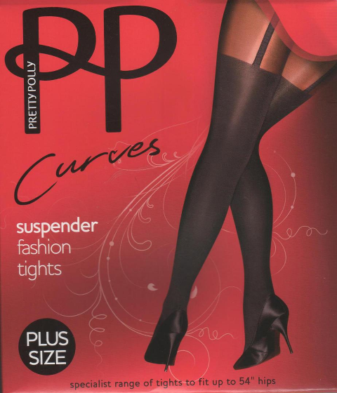 Pretty Poly - Plus size Curves suspender